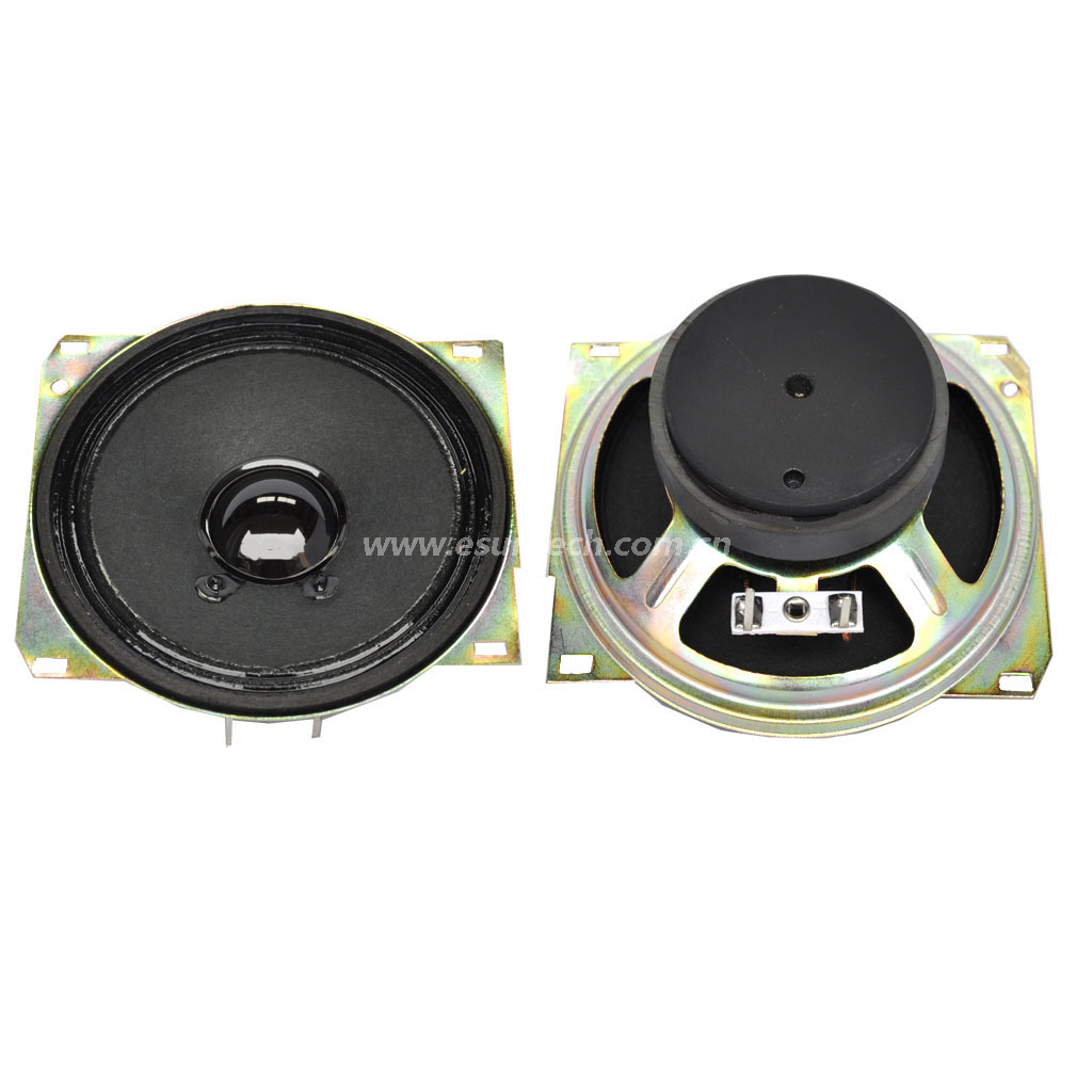 Loudspeaker YD100-6D-8F60P 104mm*104mm 4inch Square Mylar Cone Loudspeaker with Magnet Cover Waterproof Raw Speaker Parts-ESUTECH