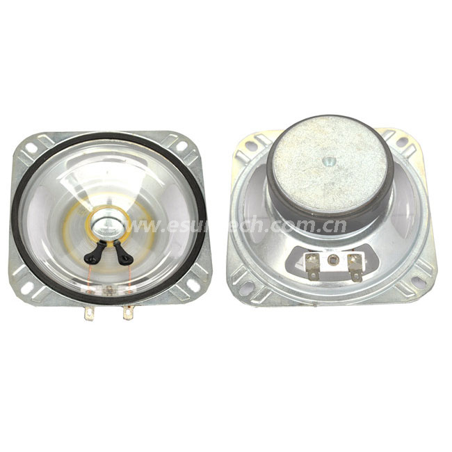 Loudspeaker YD100-7-8F60M-R 104mm*104mm*37.5mm 4inch Square Mylar Cone Speaker Waterproof Raw Speaker Unit-ESUTECH